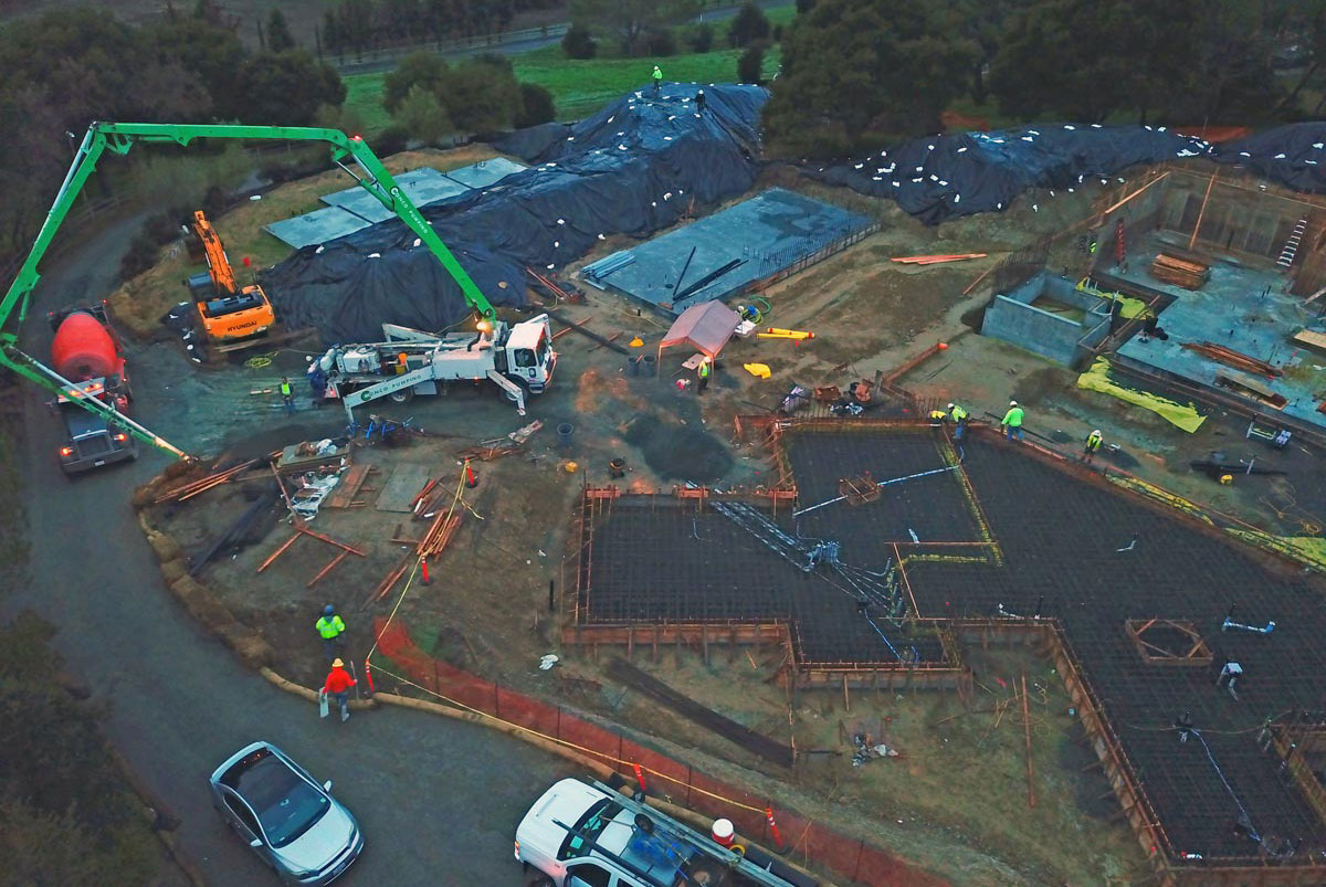 construction site drone image