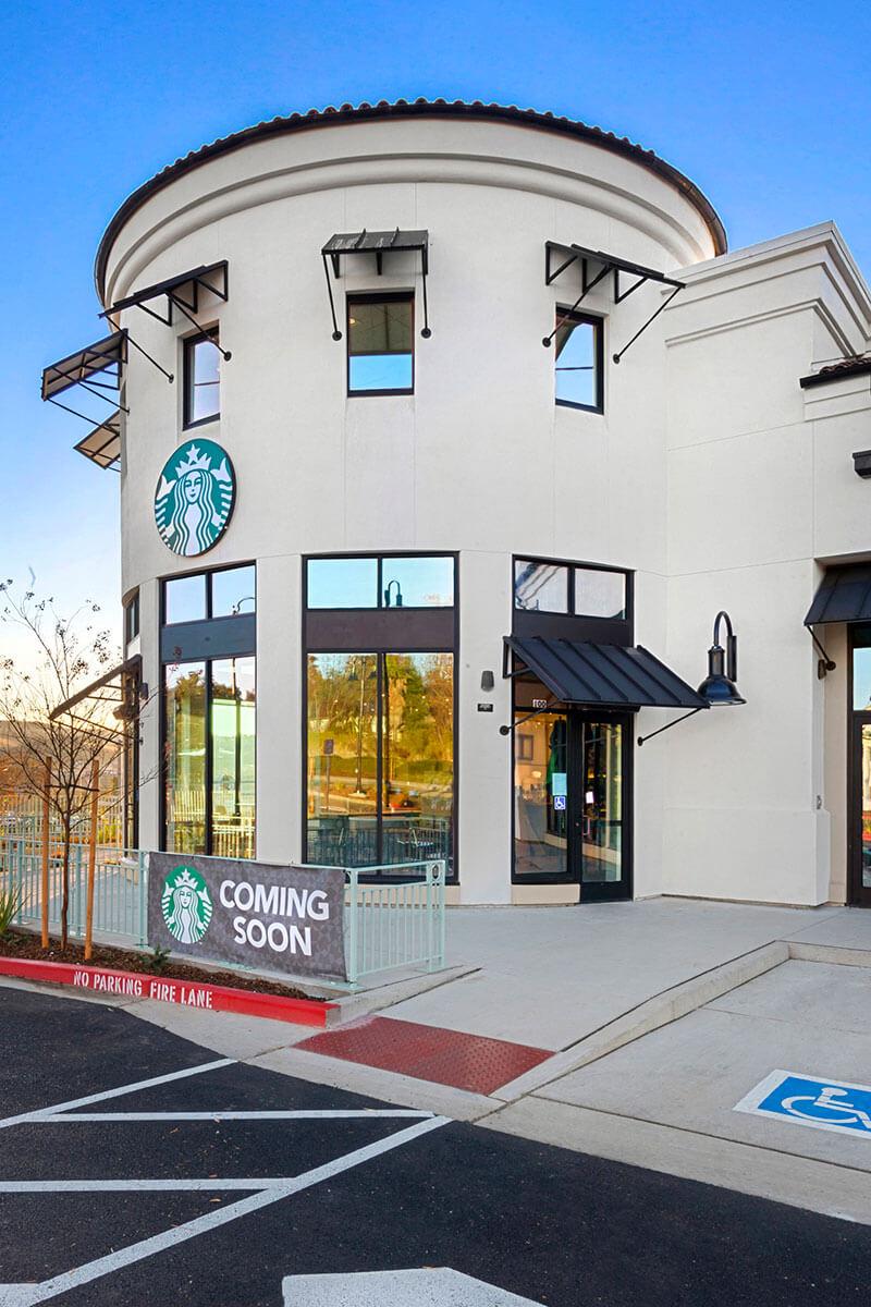 Starbucks build on Saratoga Way