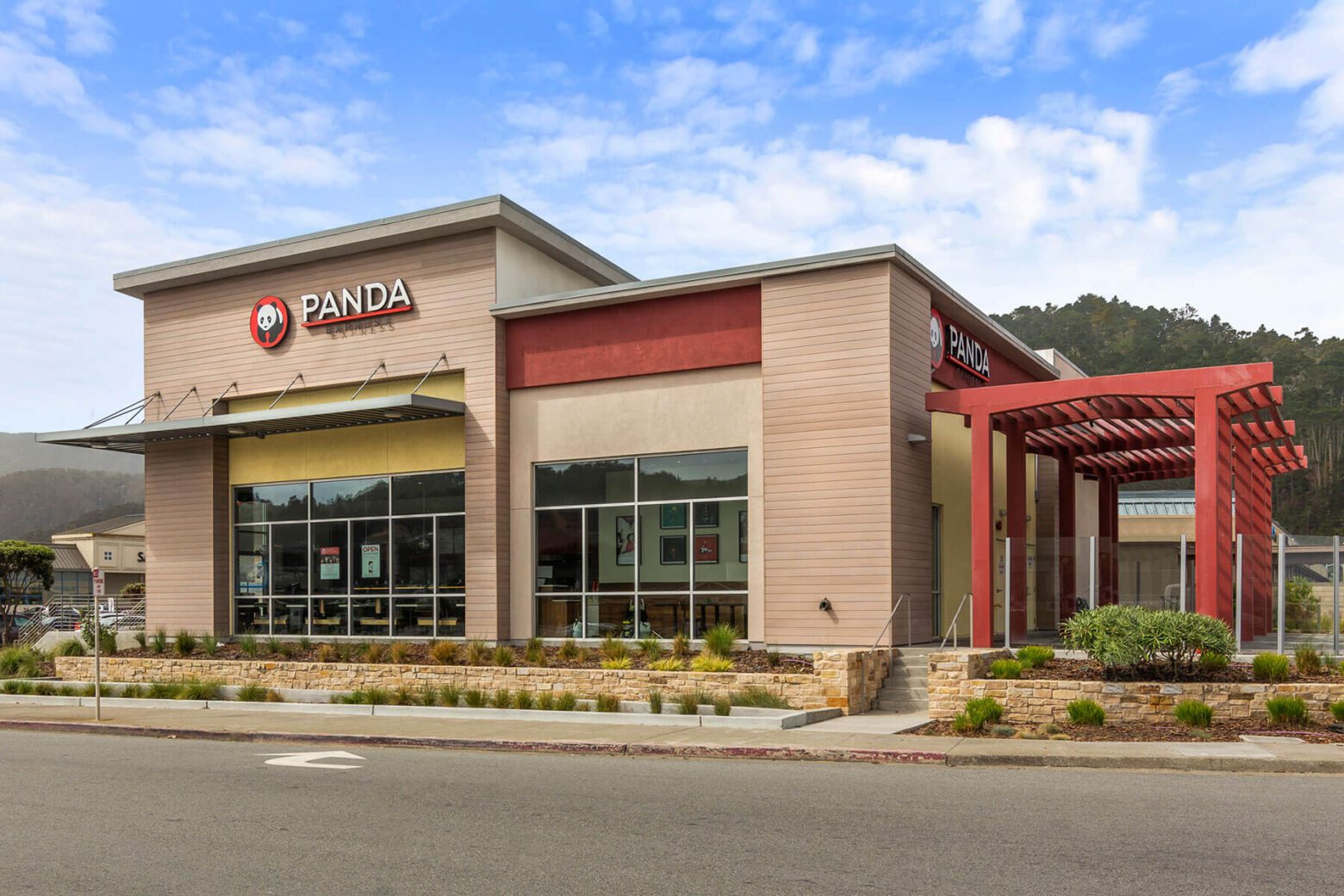 Starbucks and Panda Express on 500 Linda Mar Blvd