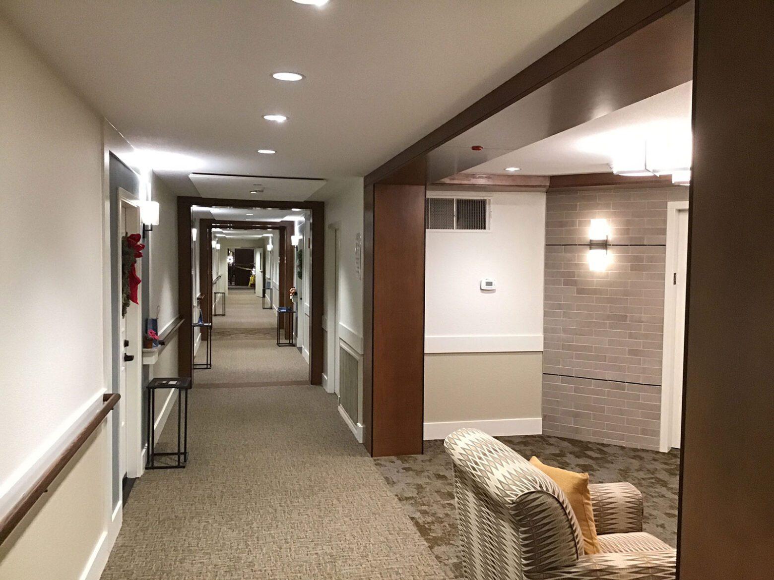 Meadows of Napa Valley Memory Care and Corridor